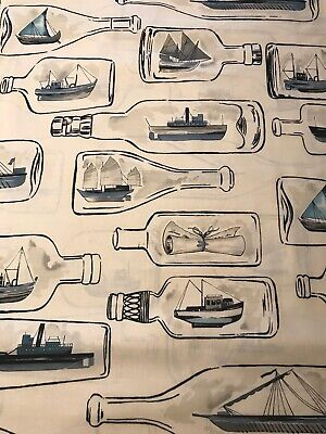 "Alexander Henry ""MESSAGE IN A BOTTLE"" Fabric BY THE YARD 100% Cotton NEW!"