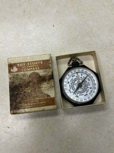 Vintage Official Boy Scout Taylor Compass in Box