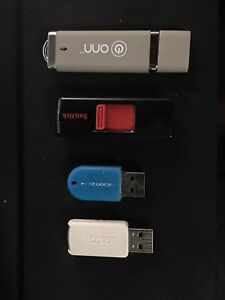 4 USB 2.0 Flash Storage Sticks Cheap!