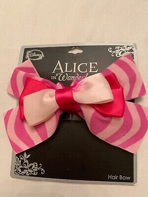 Alice In Wonderland Pink Hair Bow Cheshire Cat Barrette Costume Cosplay Disney