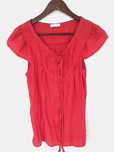 Promod - Red Linen Blouse - BRAND NEW