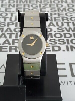 Movado vintage two tone st steel museum women's watch swiss made 86.A1.836L.
