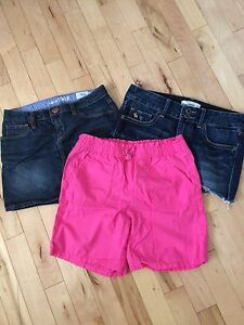 Gap & Abercrombie Jean Skirts & Pink Shorts (size 10)