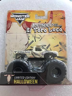 2017 Hot Wheels Monster Jam Halloween El Toro Loco - New Halloween 2017