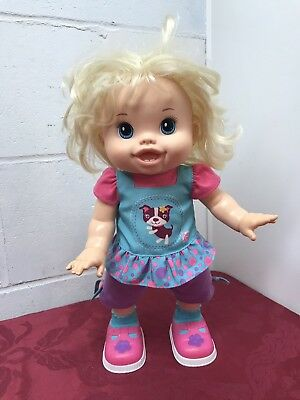 Baby Alive Baby Wanna Walk Blonde Hair Walking Talking Interactive Toy Doll 2011 for sale  Kerkhoven