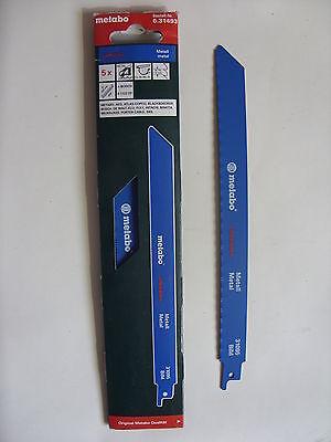 Metabo 5 Säbelsägeblätter Metall 225/ 0,9 mm flexible Bosch AEG (631493000)