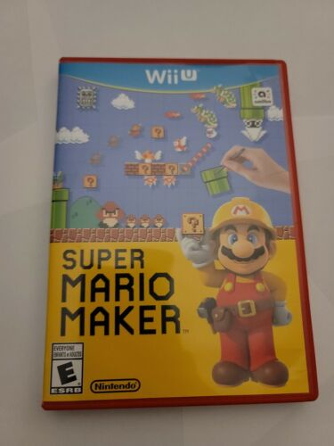 Super Mario Maker With Manual Nintendo Wii U, 2015 WiiU Tested Free Shipping - $13.99