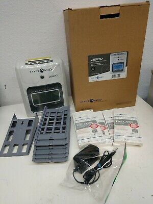 Pyramid 2500 Small Business Time Clock Bundle With 100 Time Cards Read