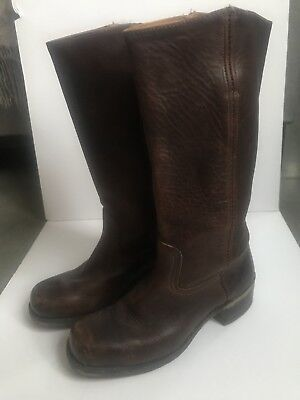 $358 Frye 77050 Campus Saddle Leather Walnut Womens 9.5M Boots USA-Med Calf for sale  Saint Paul