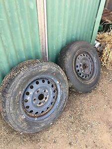 Two tyres and rims Old Beach Brighton Area Preview