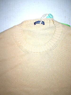 New Mens XL 42 NWT Designer Malo Sweater Beige 52 Italy Light Camel Jumper Knit