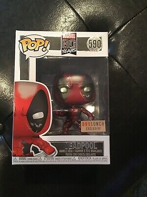 Funko POP! Marvel 80th Deadpool Damaged (Metallic) Box Lunch Exclusive