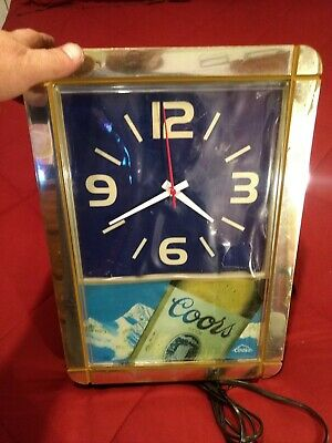 Vintage Collectible Coors Wall Clock Lights Up Used Beer Advertising