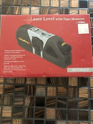 Tandy Levelpro 3 96413-040 Laser Level Wtape Measure 2 Aaa Batteries
