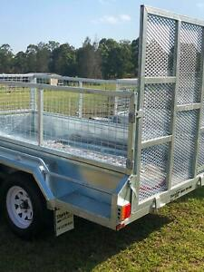 9 x 5 Heavy Duty 2.0 Ton with 600 high Cage and Ramp Included Morisset Lake Macquarie Area Preview
