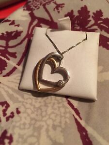 Double shaped heart necklace.