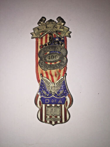 Daughters Of The America Enamel & Sterling Silver Medal 1925