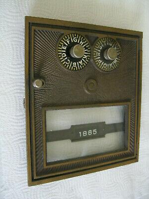 4 VINTAGE post office box door WITH A PAIR OF KEYS AND DOOR FRAME CORBIN