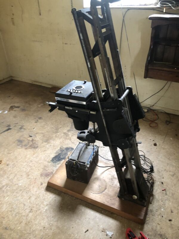 Vintage Simmon Bros. Inc. Photographic Enlarger Automega B7 With Lens
