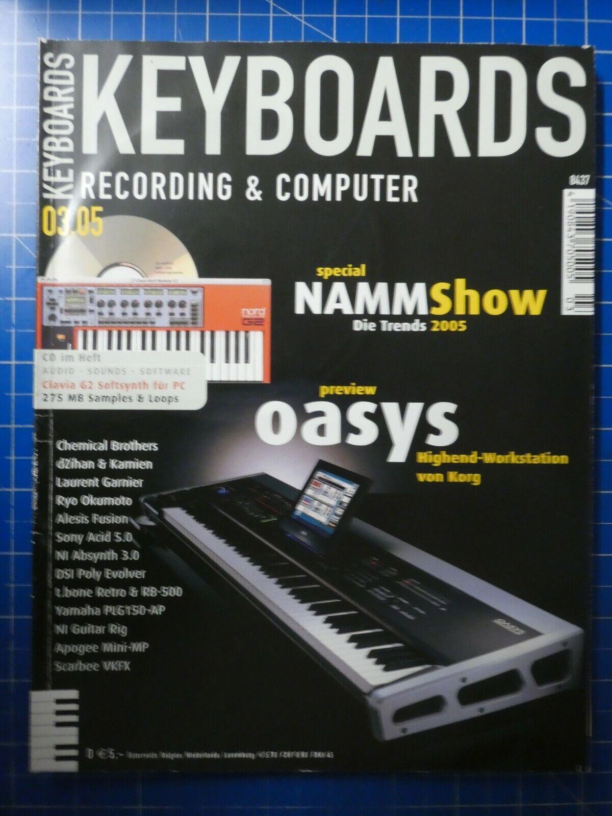 Keyboards Recording&Computer März 2005 oasys Sony Yamaha To626