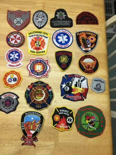 LOT OF 20 FIRE RELATED  PATCHES  FD-02
