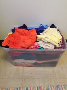BIN OF LADIES CLOTHES