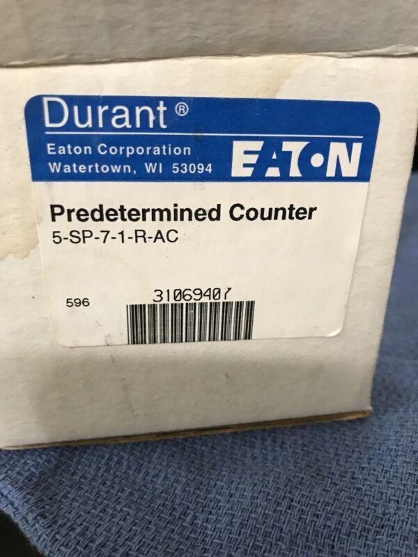 NIB EATON 5-SP-7-1-R-AC PREDETERMINED COUNTER