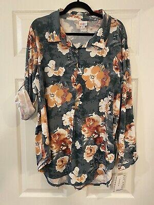 LuLaRoe - Valentina- Button Up Shirt - XLarge - - NWT Unicorn