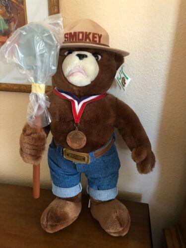 "SMOKEY BEAR 22"" PLUSH 50th ANNIVERSARY BY J. J. WIND PLUS EXTRA!"