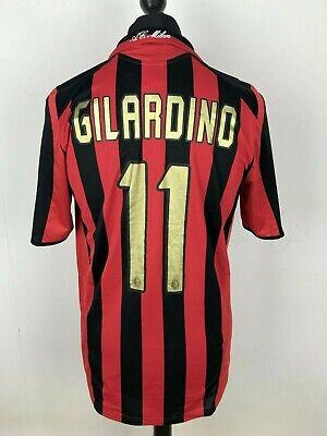 Gilardino #11 AC Milan 2005 Adidas Men's Size M Rossoneri Soccer Jersey Maglia