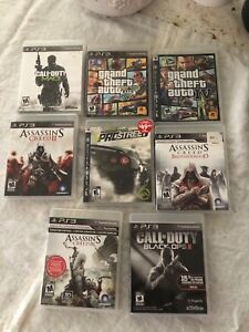 PS3 games — 1 for $15 — 2 for $25 or all 8 of $60