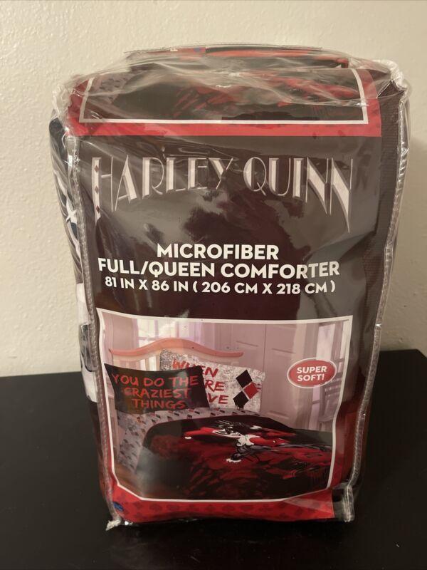 "Harley Quinn ""Craziest Things"" Microfiber Full/Queen Comforter 81 x 86"