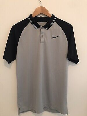 Mens Nike Golf Polo Grey & Black Size Small