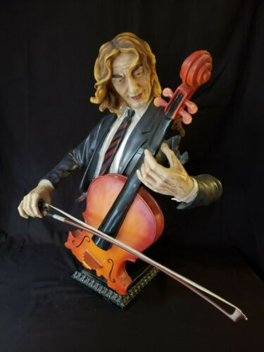 """Jazz Band Collection - CELLIST CELLO PLAYER 24"""" Bust Statue Sculpture"""
