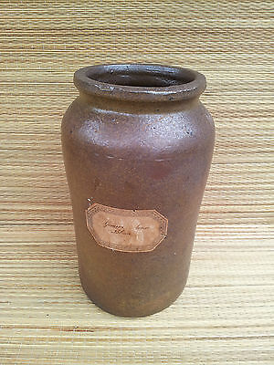 (Antique jar pharmacy earth glazed old trade french antique)