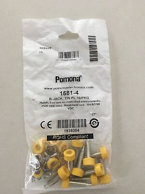 Pomona 1581-4 Yellow Banana Jacks - 10 Package