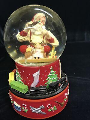 Coca Cola Christmas Snowglobe Santa with Train vintage 1971