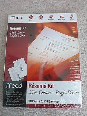 mead resume kit 39006  50 sheets  Resume Kit, White,   Free shipping