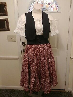 St.Pauli Girl / Peasant Lass/ Octoberfest Costume, Home Sewn  Blouse Skirt