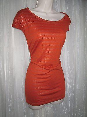 Cato Womens Plus Sz 22 24W 3X Burnt Orange Silver Sleeveless Fashion Top Blouse