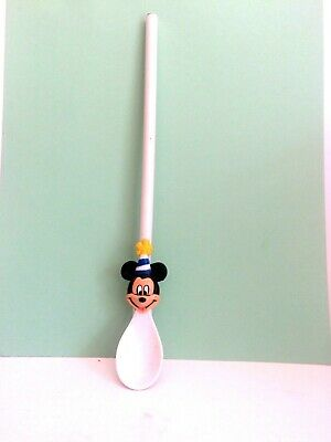 Mickey Mouse Spoon Straw Combo CUTE! - Mickey Mouse Straws