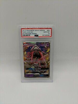 PSA 10 GEM MINT Tapu Lele GX 60/145 SM Guardians Rising HOLO RARE Pokemon Card