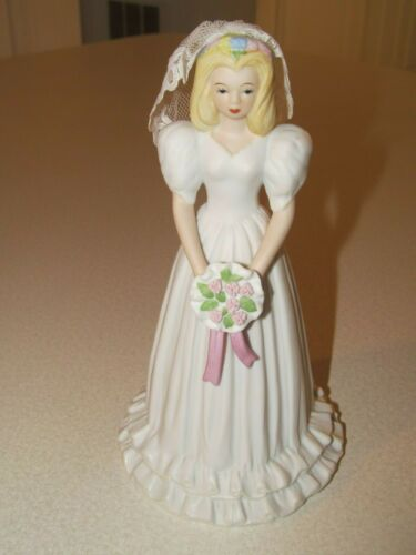 ENESCO GROWING UP BIRTHDAY GIRLS BLONDE BRIDE 1996 NIB FIGURE WEDDING FIGURINE