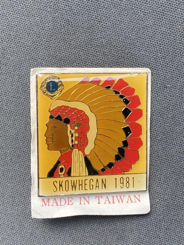Skowhegan 1981 Lions Club Pin