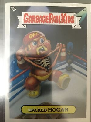 1 Card Hulk Hogan Hacked Hogan Topps 16b Garbage Pail Kids Card WWF WWE WCW GPK