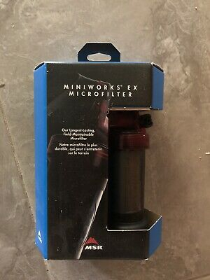 MSR MiniWorks EX Water Filter Purifier System Camping, Hiking New