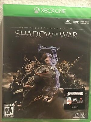 Middle Earth Shadow Of War Xbox One Brand New Sealed Fast Ship W Tracking No Tax