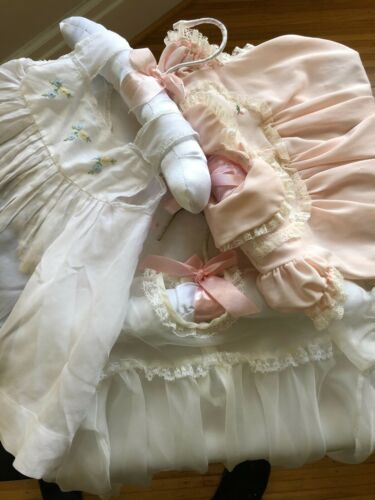 THREE vintage nylon dresses   for infants or dolls