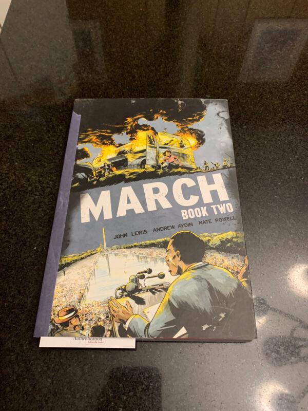 Congressman John Lewis Autographed Signed March Book One JSA
