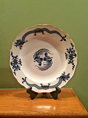 "Meissen German Blue Court Dragon & Gold 10"" Dinner Plate"